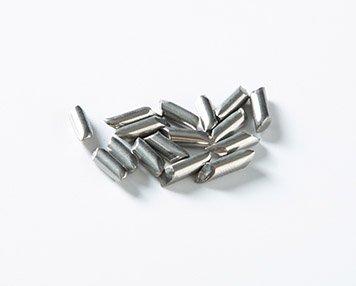 18. Steel diagonal tumbling media