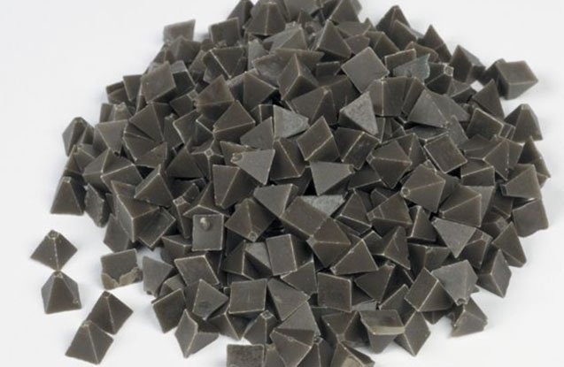 2. brown pyramid tumbling media