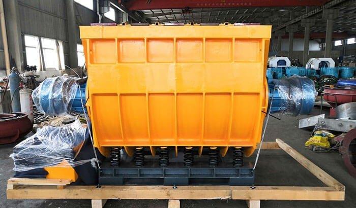 2800 liter vibratory finishing machine