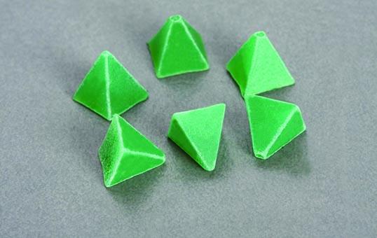 8. Plastic media pyramid