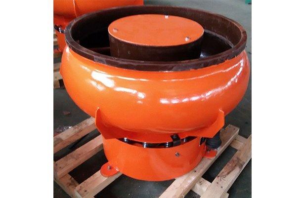 PZGA100 vibratory finishing machine with Straight wall bowl details