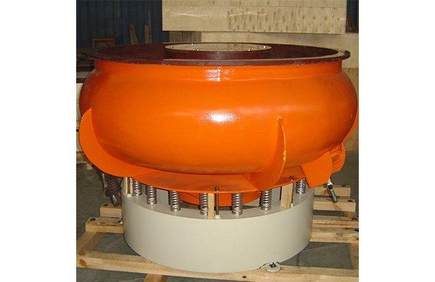 PZGA1200 vibratory finishing machine with Straight wall bowl details