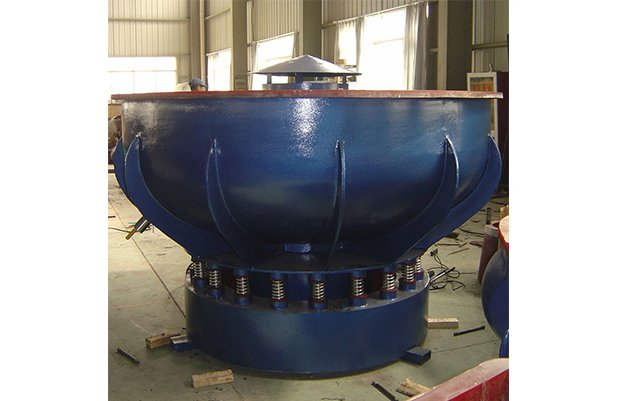 PZGB1500 vibratory finishing machine with Straight wall bowl details