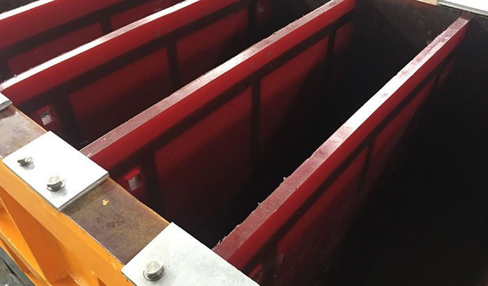 2400 liter dividers vibratory tub