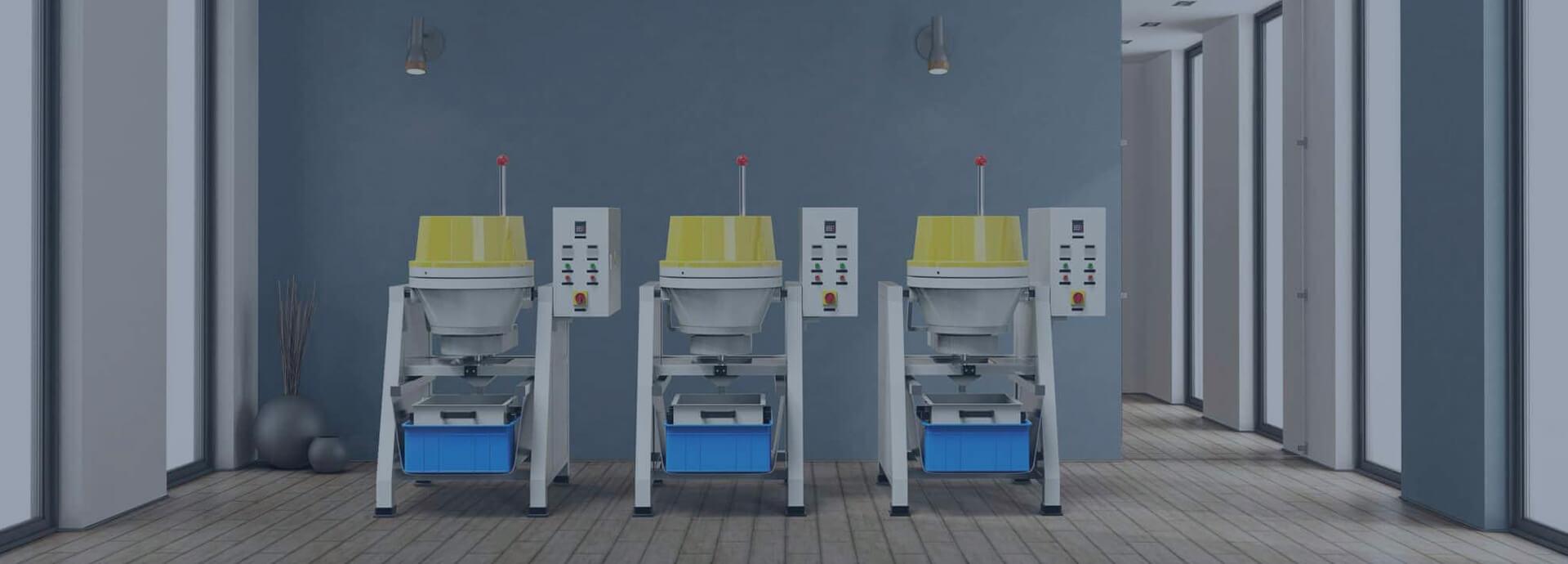 Centrifugal disc finishing machine banner