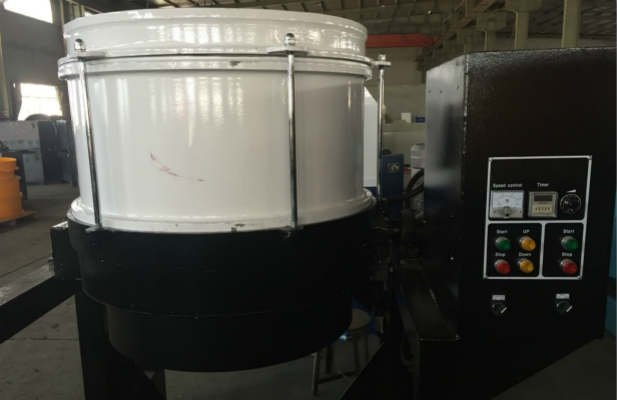 Centrifugal disc finishing machine front view
