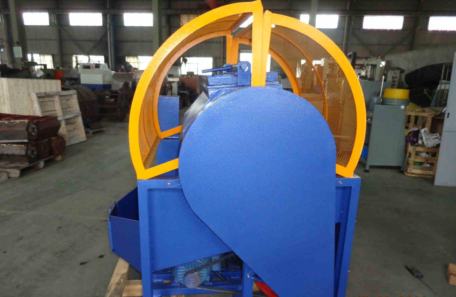 Single barrel rotary tumbling machine side view
