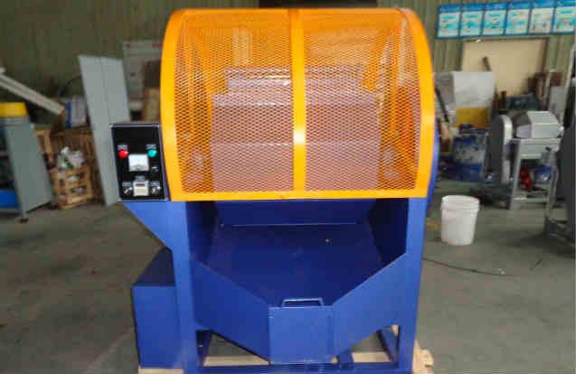 Single barrel rotary tumbling machine