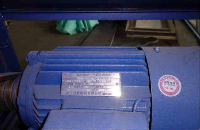 Single barrel tumbling machine motor