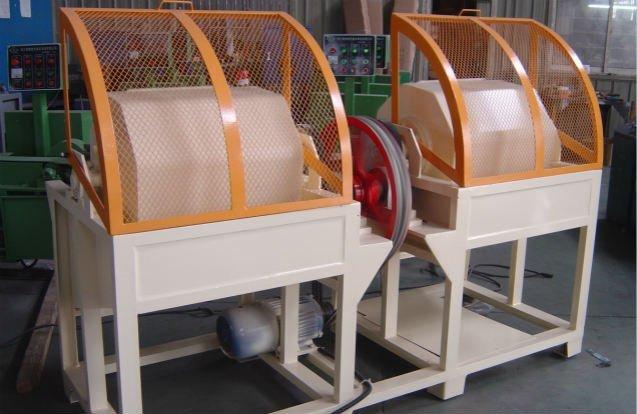 rotary drum polishing machine