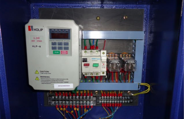 single barrel polisher speed control