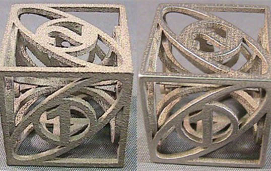 3D Metal Part Finishing 3d printed parts