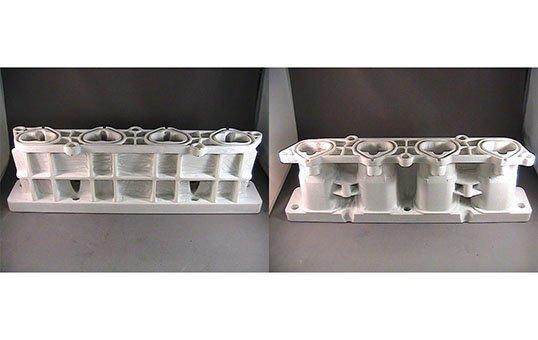 Automotive Intake Manifold FCA Remove build material