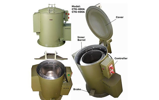Economic centrifugal spin dryer for electroplating