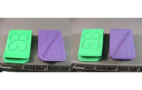 PLA Post Processing Plastic Money Clip