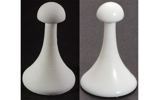 Post Processing 3D Plastic 3D printed chess piece