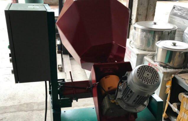 Rotary Tilt Barrel tumbling Machine backside view