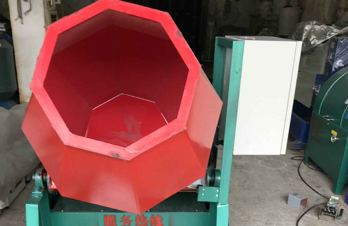 Rotary Tilt Barrel tumbling Machine front view