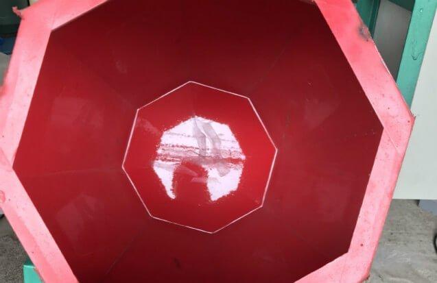 Rotary barrel inside view