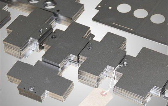 Sheet metal laser cut parts deburring