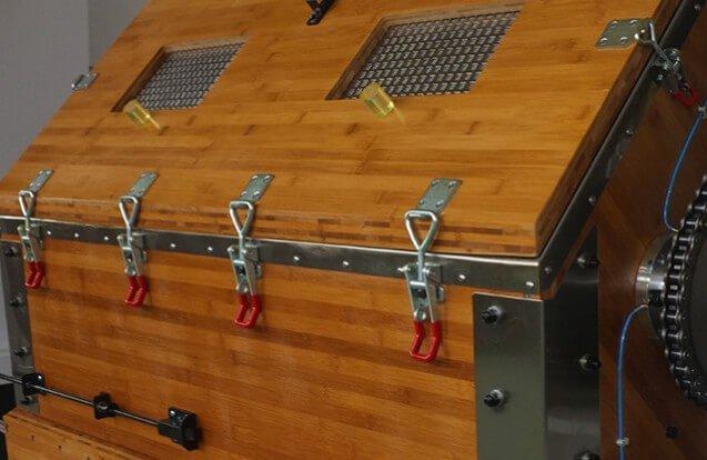 big rotary wood polishing machine details 2