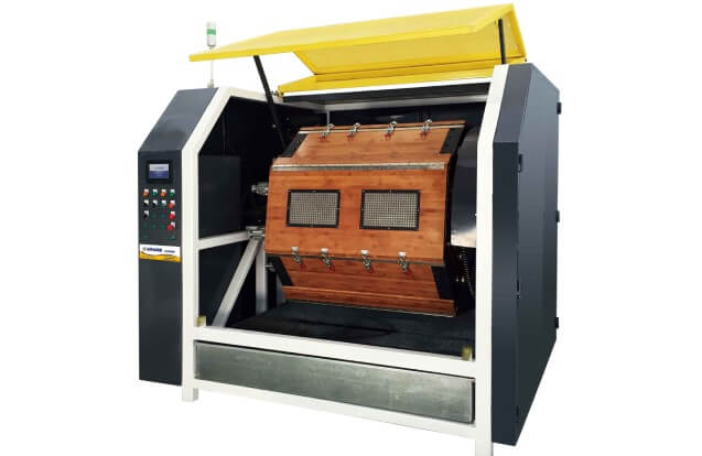 big rotary wood polishing machine
