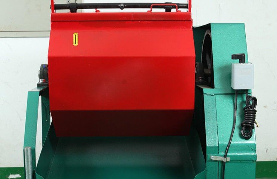 economic hexagonal rotary barrel polishing machine