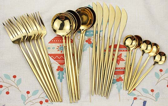 gold plating cutlery for wedding