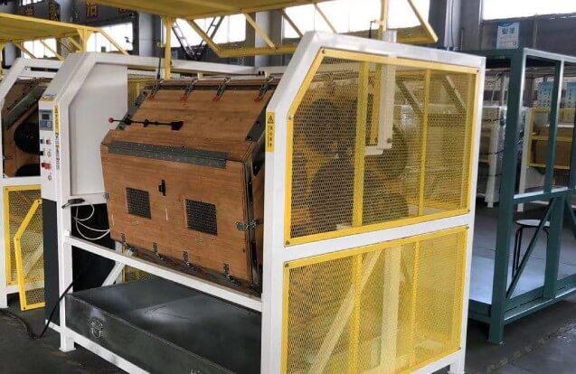 rotary barrel tumbling machine wood drum polisher