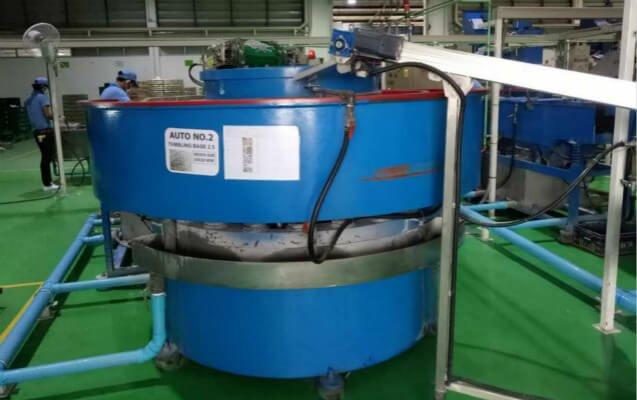 rotomatic vibratory finishing machine continuous spiral