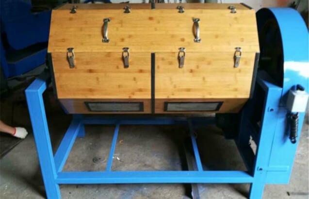 single barrel wood barrel rotary polisher
