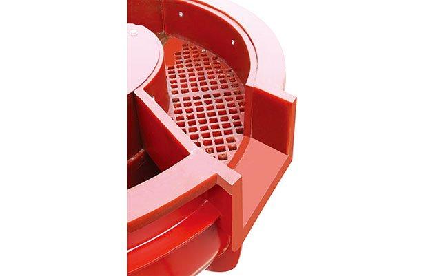 vibratory finishing machine with separator sieve