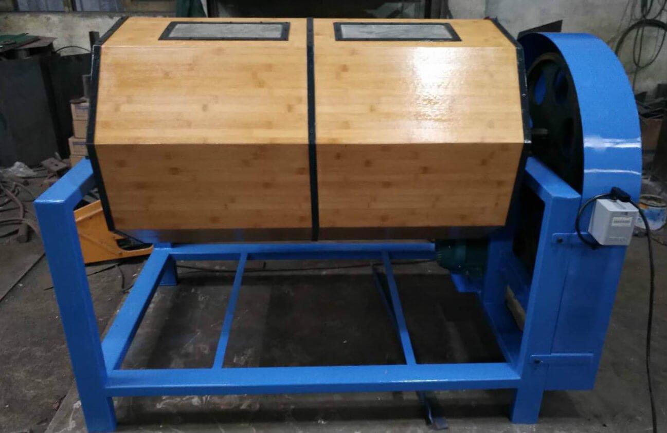 wood barrel rotary polisher