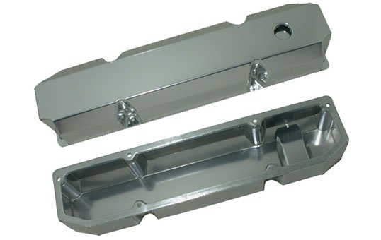 Fabricated Aluminum Valve Covers Polishing