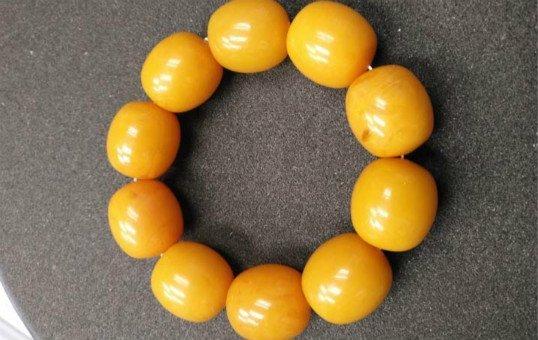 amber beads polishing