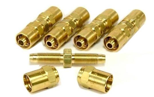 brass fittings polishing