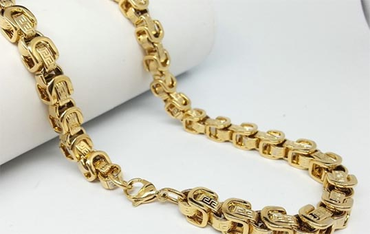gold chain polishing