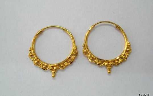 gold earring polishing