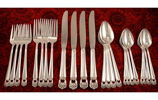 high end luxury silverware burnishing