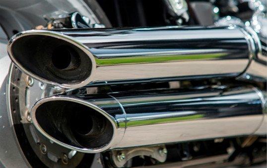 motorcycle exhaust pipe polishing