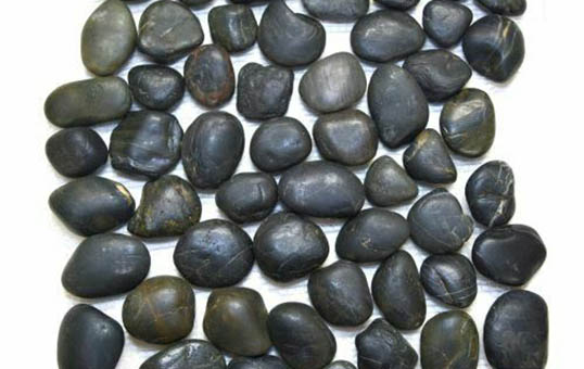natural river rock cobalt pebble stone polishing