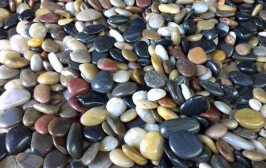 pebble stone polishing
