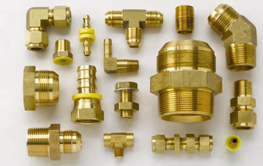 small brass finishings deburring
