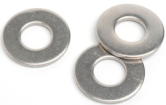 small plain steel washer deburring