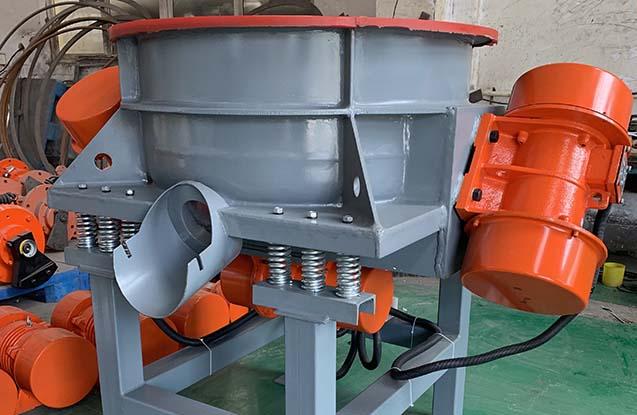 wheel vibratory finishing machine 3 motors design
